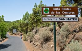 "MTB bike excursion ""A"" from Las Palmas de Gran Canaria: downhill from the Pico de Las Nieves via Teror to Las Palmas"