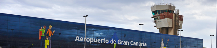 International Terminal at Airport Gran Canaria for European flights
