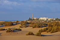 Maspalomas-Faro & Oasis seen from the dunes beach
